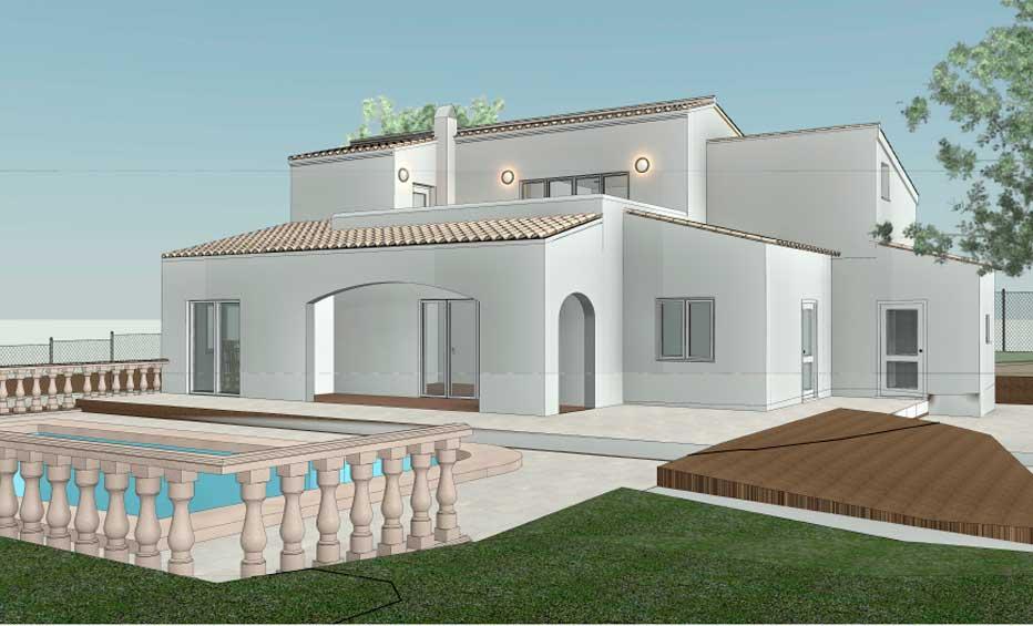 Render ampliación casa en Jávea
